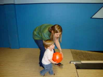 I wish I could say that I taught you how to bowl, but Carter beat me that day...