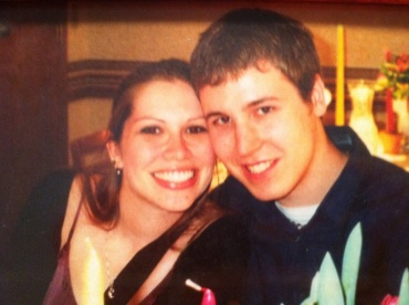 First photo of us as a couple, a mere 10 days after that first date. Which reminds me... Happy Almost Anniversary to Meresa and Scott! (Yeah. He went to a wedding with me after a week and a half. Keeper.)